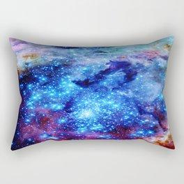 galaxy blue sparkle Rectangular Pillow