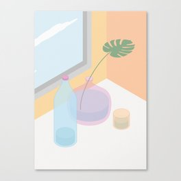Glass, water and a window Canvas Print