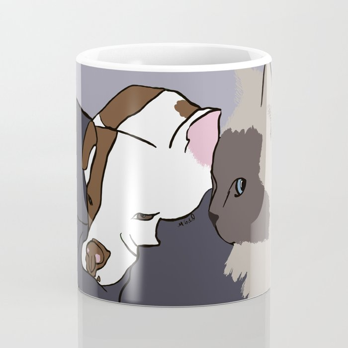 A Pit Bull and Her Kitty Coffee Mug