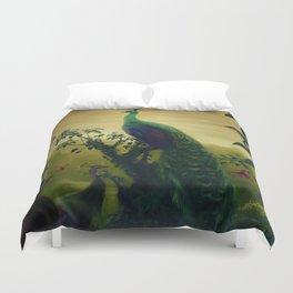 Green Peafowl (pavo muticus) Duvet Cover