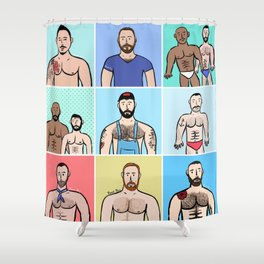 Beard Boy: Boys, Boys, Boys Shower Curtain