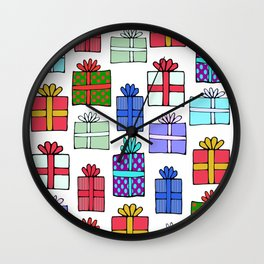 Presents Wall Clock