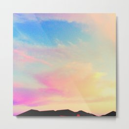 pink pearly sunset Metal Print