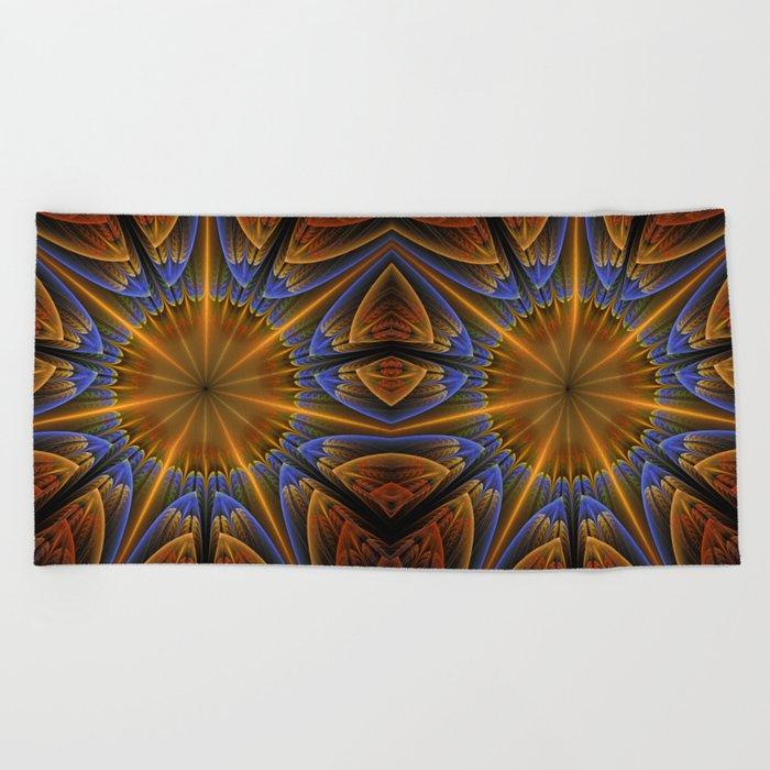 Autumn star Beach Towel
