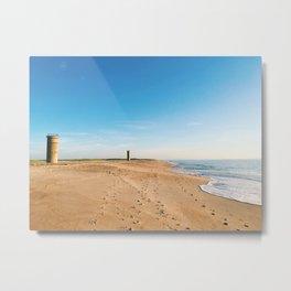 Beach, ocean with waves - minimalist landscape photography | Rehoboth Beach, DE Metal Print
