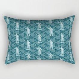 Poseidon OCEAN BREEZE / All hail the god of the sea Rectangular Pillow