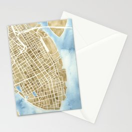 Charleston, South Carolina City Map Art Print Stationery Cards