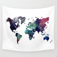 Map of the World After Ice Age Wall Tapestry