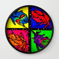 anatomical heart Wall Clocks featuring Anatomical Heart  by Bones&guts