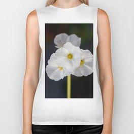 White blooming flower Biker Tank