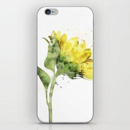 Watercolr sunflower iPhone Skin