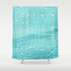 Glitter Turquoise Shower Curtain