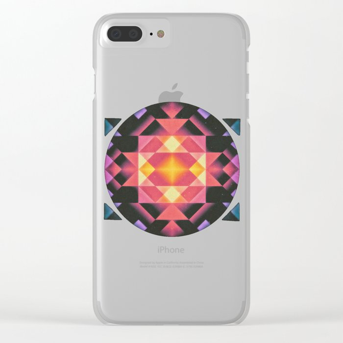Sun Doesn't Care Clear iPhone Case