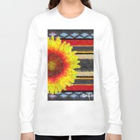 blanket Long Sleeve T-shirts featuring Indian Blanket by Jim Pavelle