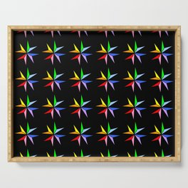Stars 17- sky,light,rays,pointed,hope,estrella,mystical,spangled,gentle. Serving Tray