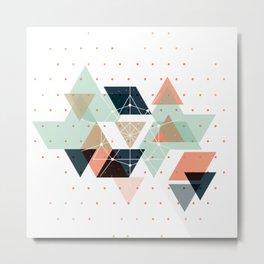 Midcentury geometric abstract nr 011 Metal Print