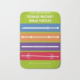 No346 My Teenage Mutant Ninja Turtles minimal movie poster Bath Mat