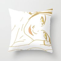 lord of the ring Throw Pillows featuring Ring by AnnaCas