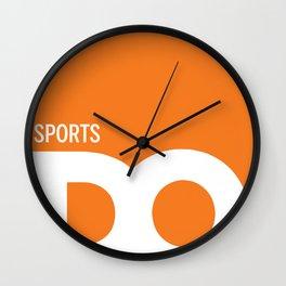Cropped D.O. Sports Logo Wall Clock