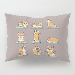 Corgi Yoga Pillow Sham