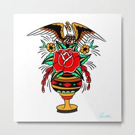 Eagle Vase Metal Print