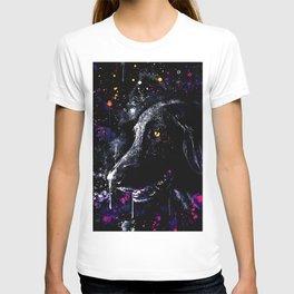 black labrador retriever dog wsfn T-shirt