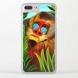 Henri Rousseau Mandrill In The Jungle Clear iPhone Case
