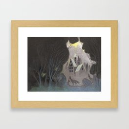 Misty Towers Framed Art Print