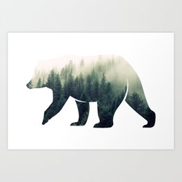 Bear in the Forest Art Print
