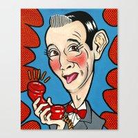 pee wee Canvas Prints featuring Pee Wee Herman by Caragh Brooks