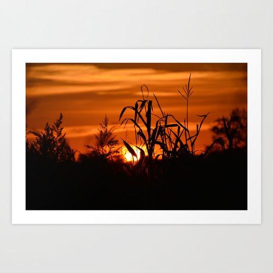 Silhouttes in a Sunrise Art Print