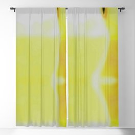 Lab Abstract Yellow Blackout Curtain