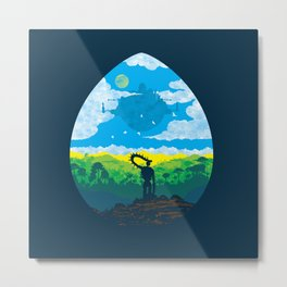 Mystical City Metal Print