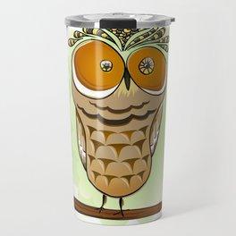 Crazy Owl Travel Mug