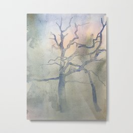 The Lightening Tree, Strawberry Hill Pond Metal Print