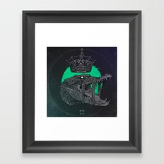 Down in the limbs, an eye on everything. Framed Art Print