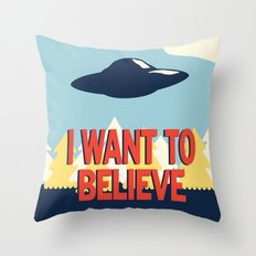 Jenni's Prints X-Files! I want to believe! Throw Pillow