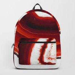 Red Agate Geode slice Backpack