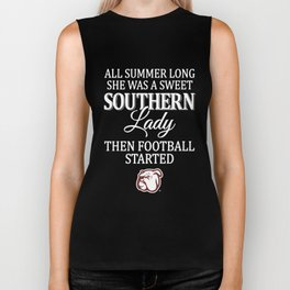 all summer long she was a sweet southern lady the football started footbal Biker Tank