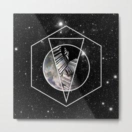 GeoMoon Metal Print