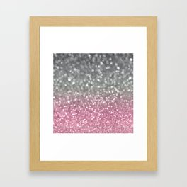 Gray and Light Pink Framed Art Print