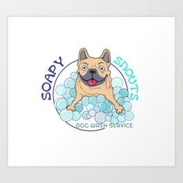 soapy snouts logo2 Art Print