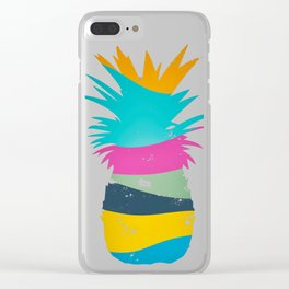 Sliced Abstract Ananas Clear iPhone Case