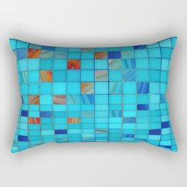 Blue And Red Geometrical Art - Block Party 1 - Sharon Cummings Rectangular Pillow