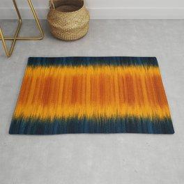 N249 - Orange Blue Oriental Vintage Boho Moroccan Style Rug