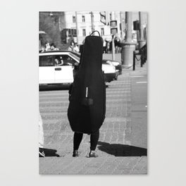 Person Double Bass Canvas Print