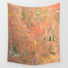 Baesic Coral Paint Smears Wall Tapestry