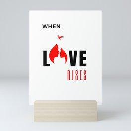 When Love Rises White-Red Mini Art Print