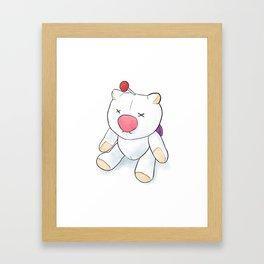 Moogle Doll Illustration Framed Art Print