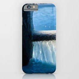 Frozen Mooring Cleat on the Dock, Dunkirk Pier iPhone Case